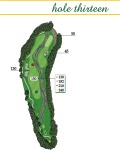Highland Creek Hole 13 Layout