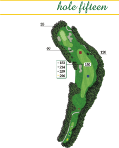 Highland Creek Hole 15 Layout
