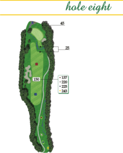 Highland Creek Hole 8 Layout